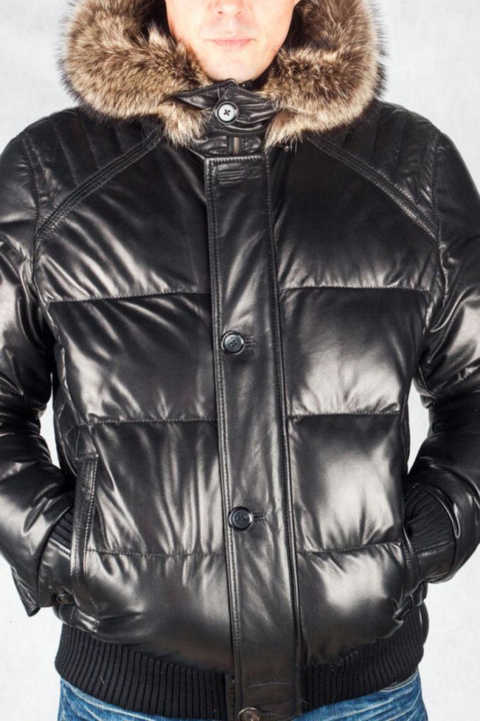 натуральный кожа куртка